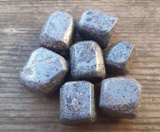 THREE (3) HEMATITE TUMBLED STONES MEDIUM/LARGE NATURAL TUMBLE STONES