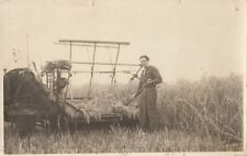AGRICULTURE : Cutting corn with a sail binder RP-plain back