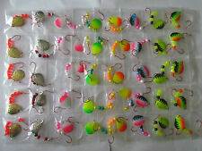 40 Spinner Rigs Leech Minnow Crawler Harness Walleye, Bass, Pike Colorado Blades