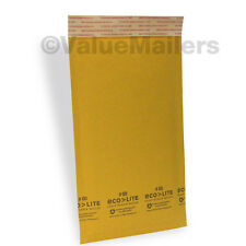 200 #00 5x10 Kraft ^ Ecolite Bubble Mailers Padded Envelopes 5 x 10