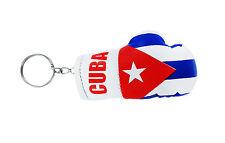 Porte clés drapeau cuba cubain clé clefs Mini gant de boxe keychain voiture moto