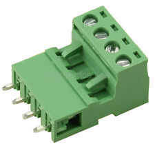 10sets 2EDG 4Pin Plug-in Screw Terminal Block Connector 5.08mm Pitch Straight