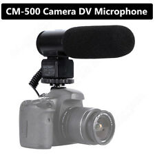 CM-500 Interview Recording Microphone MIC 3.5mm Jack for Canon Nikon DSLR Camera