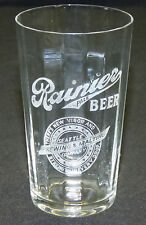 Antique Pre Prohibition Rainier Pale Beer Seattle Brewing & Malting Co Glass