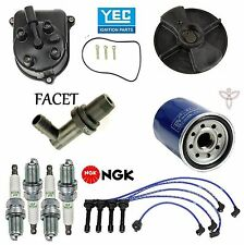 Tune Up Kit Wire Set Spark Plugs Oil Filter for Honda Accord L4; 2.2L 1992-1993