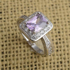 New Fashion Amethyst Ring  925 Sterling Silver Engagement Ring Size 7# J380