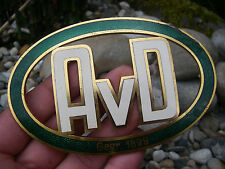 AvD - AUTOMOBILCLUB VON DEUTSCHLAND 1929 - 1933 Plakette Kühler Auto Car Badge