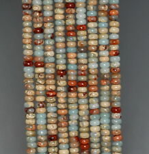 4X2MM SEA SEDIMENT IMPERIAL JASPER GEMSTONE RONDELLE LOOSE BEADS 15.5""