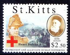 St. Kitts MNH, Henri Dufour, Swiss Army officer, Bridge Engineer, Red Cross -S4