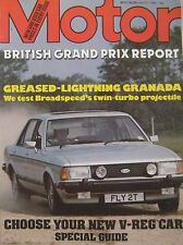 Motor magazine 21/7/1979 featuring Broadspeed Turbo Ford Granada road test