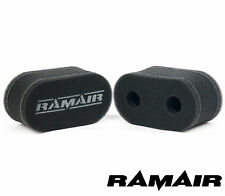 2 x RAMAIR Foam Carb Sock Air Filters Double Trumpet Weber DCOE Fitment