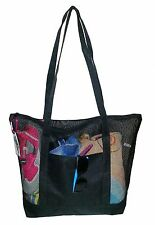 Mesh Beach Tote Bag Black - Good for the Beach - 20 in X 15 in X 5 In NEW