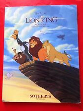 Sotheby's The Art of The LION KING Auction Catalog Book (New York 2-11-1995