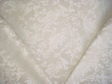 13y SCHUMACHER BEAUTIFUL NATURAL WHITE FLORAL LINEN DAMASK UPHOLSTERY FABRIC