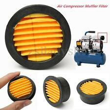 Air Compressor Intake Filter Silencer Metal Housing Replacement Paper Element US