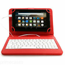 "PU LEATHER CASE COVER KEYBOARD FOR SAMSUNG, LENOVO, LG, KINDLE TABLET up to 7""*"