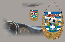 GREECE SOCCER FLAG CAR MINI BANNER, PENNANT