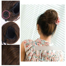 Casual Clip In Ponytail Bun Scrunchie Drawstring  Lovely Hair Extension Top SK