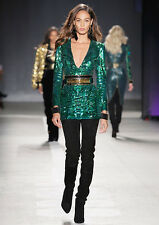 Balmain H&M Green Sequin Embroidered Dress Size 10