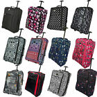 50x40x20 LIGHTWEIGHT HAND LUGGAGE WHEELED TROLLEY CABIN BAG RYAN AIR EASY JET