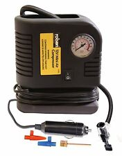 Rolson 250PSI 12v Mini Air Compressor Tyre Inflator Car Bike Bed Pump Cigarette