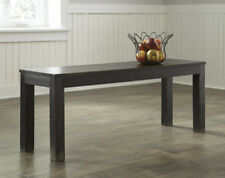 Ashley Furniture Large Dining Room Bench Gavelston Black D532-09 Bench NEW