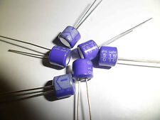 6 x 15uF 10V Solid-State SANYO Capacitors 105 degC Ultra Long Life NEW
