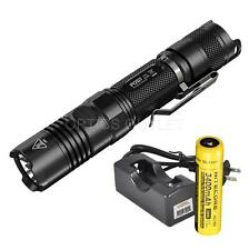NiteCore P12GT 1000 Lumen LED Flashlight w/ 1 x 3400 mAh 18650 Battery, Charger