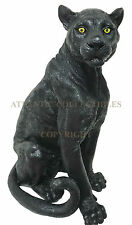 "Large 20.5""H Black Panther Jaguar Wildlife Hunter Statue Home Garden Patio Decor"