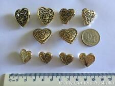 Heart Shaped Assorted Gold Shank Novelty Buttons by Dress It Up mod13