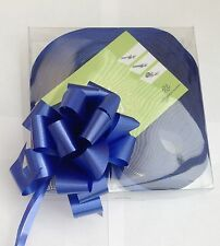 10 Blue Quick Bow Pull Ribbons 30mm Party Decorations Wedding Christening