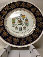 Canada Coat of Arms Centennial Plate by Simpsons (Potters) Ltd England MINT