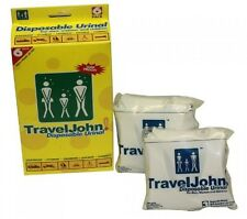 TravelJohn-Disposable Urinal (6 pack), Does Not Ship to CA, New, Free Shipping
