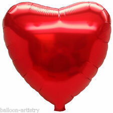 """12 x Wedding Party St. Valentine's Day 18"""" Red Heart Foil Balloons"""