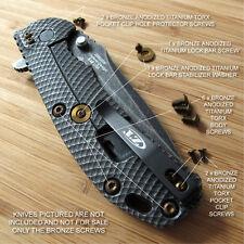 Zero Tolerance ZT0560 561 ZT Knife 13PC Titanium Screw Set + LBS Washer BRONZE