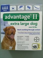BAYER ADVANTAGE II FLEA CONTROL FOR DOGS OVER 55 LBS - NEW