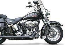 Samson True Dual Head Pipes 1-3/4 Black Harley FLSTF Softail Fat Boy 2007-2011