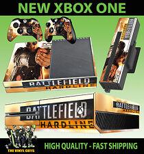 XBOX ONE CONSOLE STICKER BATTLEFIELD HARDLINE 02 HANDGUN STYLE SKIN & 2 PAD SKIN