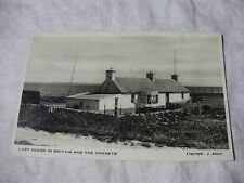 K126 - LAST HOUSE in BRITAIN and The ORKNEYS - Photo POSTCARD