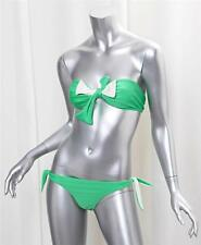 TARA MATTHEWS Green Bandeau Bow Swimsuit Bikini Bathingsuit Swimwear XS NEW