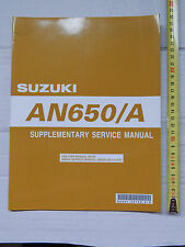 SUPPLEMENTO MANUALE OFFICINA SUZUKI AN 650 A BURGMAN K7 MANUAL REPAIR