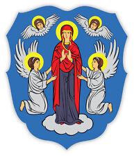 Minsk Coat of arms Belarusian Belarus adesivo etichetta sticker 10cm x 12cm