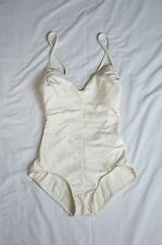 Jantzen Women's V-neck cross strap Ivory lined low back One-Piece Swimsuit 8 VTG
