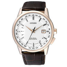 Citizen Eco-Drive Radio Control Mens Leather Watch. Sapphire Glass CB0153-21A