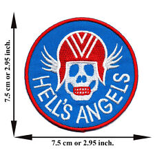Hell's Angels Biker Outlaw Motorcycle Gang Logo Applique Iron on Patch Sew