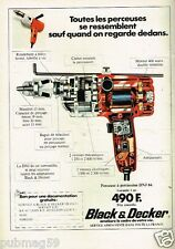 Publicité advertising 1977 Bricolage Outillage Perceuse Black & Decker