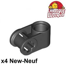 Lego technic - 4x Axe Axle connector perpendicular noir/black 6536 NEUF