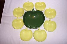 Hazel Atlas 9-pc Orchard Green/Chartreuse Apple Fruit Bowl Set