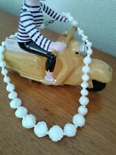 1950s -. Bohemien milk glass beads. PEGGY LEE stile.