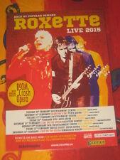 ROXETTE - 2015  AUSTRALIAN  TOUR  -  PROMO TOUR POSTER